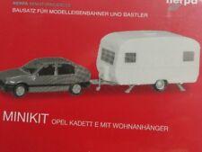 1/87 Herpa MiniKit Opel Kadett E GLS mit Wohnanhänger 013420