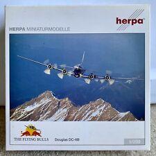 RARE 1:200 Herpa Red Bull Douglas DC-6B The Flying Bulls Airplane Diecast Model
