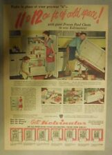 Kelvinator Refrigerator Ad: 11 to 12 Cu. Ft. of Cold Space from 1950's