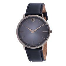 Reloj de Cuarzo Movado 0607400 Para hombres Azul Ultra Delgado