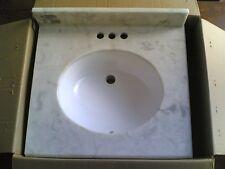 New Nice Bath Vanity Premium Carerra Marble Top + Ceramic Undermount Sink 25x22