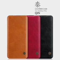 NILLKIN QIN For OnePlus 7 Pro Ultra Slim Flip Leather+PC Wallet Card Case Cover