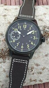 Chezard handwinding watch type UNITAS 6497 with wooden box - new