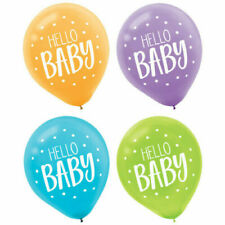 Hello Baby Shower Latex Balloons Party Decoration Supplies ~15ct Fisher Price