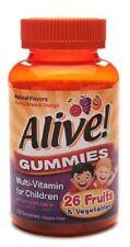 Alive Multi-Vitamin Gummies for Children 60 Each (cherry,orange,grape flavors)