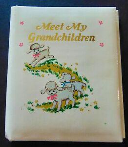 """Vintage Photo Book Meet My Grandchildren Baby Lambs Hong Kong 4.50X3.50"""" photos"""