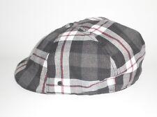 NEW Kangol PLAID FLEX 504 IVY Hat Red Black S/M ($37) Cap Golf Drivers Newsboy