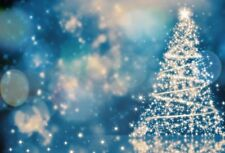 Gold Christmas Tree Glitter Shinny Dot Backdrop Photo Background Studio Prop 7x5