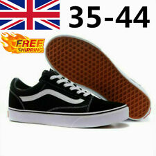 VAN Old Skool Skate Shoes All Size Black Classic Canvas Running Sneakers UK3-9.5