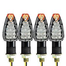 4xLED Turn Signals Amber Lights For Suzuki TS DR DRZ DR350 650 DL DRZ400 GSXR SV