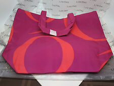 Lancome Makeup Bag Red Pink LARGE Cosmetics NEW SUMMER Travel Tote Handle Weeke*