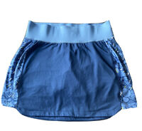 Columbia Womens Blue Print Athletic Tennis Skirt Skort Medium