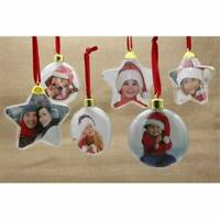 Christmas DIY Photo Frame Pendant Tree Hanger Picture Home Party Decor Ornament