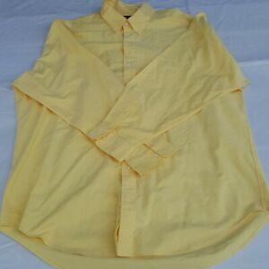 Ralph Lauren Men's Button Down Dress Shirt SIZE 17 Yellow Yarmouth
