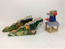 Thomas The Train Friends Mattel 2012 Lumber Bridge & Crane Wooden Track Pieces