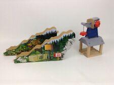 Lumber Bridge and Crane Wooden Track Pieces Thomas The Train Friends Mattel 2012