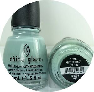 China Glaze Nail Polish Kinetic Candy 1030 Dusty Light Turquoise Blue Creme Lacq