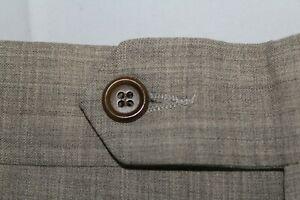 HUGO BOSS SOKRATES 36 x 31 Wool Blend Sandy Color Dress Pants