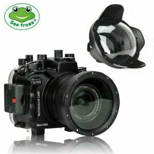 Seafrogs 40m/130ft Underwater Camera Housing for Sony A7R III A7 III+Dome Port