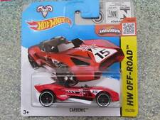 Hot Wheels 2015 #114/250 carbónico Rojo HW todoterreno Funda D