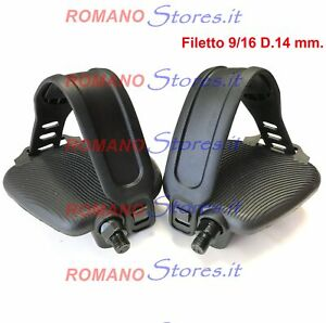 Pedals Exercise Bike Stationary Bicycle With Straps Thread Grande 9/16 D.14 MM