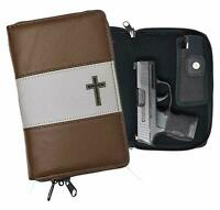 Garrison Grip Quality Leather Concealed Carry Bible Gun Case Glock Ruger LCR LC9