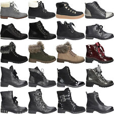 Damen Stiefeletten Casu Stiefel Boots Flach Komfort Winterschuhe Gr. 36-41 NEU