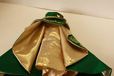 2011 HOLIDAY GREEN & GOLD GOWN Christmas Fits Model Muse Body Mattel Barbie