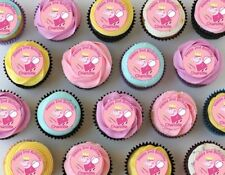24 Peppa Pig Edible Wafer Paper Cup Cake Toppers
