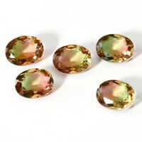 9.2 CT 13*18 MM Watermelon BI Color Tourmaline Oval Cut Loose Gemstone Wholesale