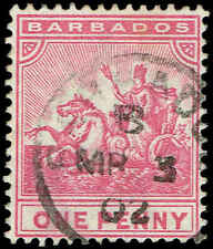 Scott # 72 - 1892 - ' Seal of Barbados '