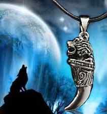 Gothic Kette Drachen ZAHN Wolf Drache Kopf Tier Anhänger mit schwarzem Band