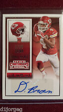 Da'Ron Brown 2015 Panini Contenders Rookie Ticket  Auto Rookie Card RC