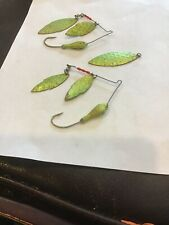 2 VTG  Strike King Dual Willow Blade 1/2 oz Spinnerbait Chartreuse Metalflake