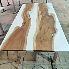 Epoxy Resin Live Edge White River Dinning Table Top 35mm thickness (TOP ONLY)