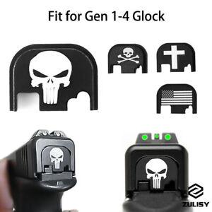 Tactical Pistol Rear Cover Slide Back Plate for Glock 17 19 26 + Gen 1-4 Handgun
