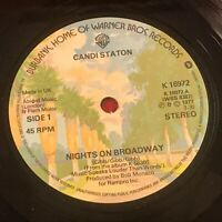 "CANDI STATON Nights On Broadway 1977 UK 7"" vinyl single EXCELLENT CONDITION"