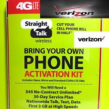 Straight Talk SIM Card For VERIZON Tower CDMA Network Activation Kit