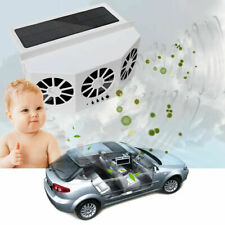 Portable Car Quiet Air Conditioner Solar Cooling Fan Auto Truck Vehicle Cooler