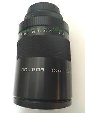 MC SOLIGOR C/D macro MIRROR LENS 1:8 500mm w/ Canon EOS mount