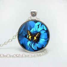 Buy glass necklaces and pendants ebay butterfly aloadofball Gallery