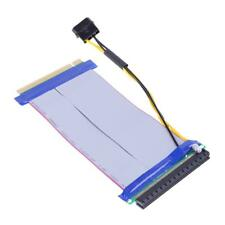 16X to 16X Power PCI-E Riser Extension Ribbon Cable for PCI Express Card Adapter
