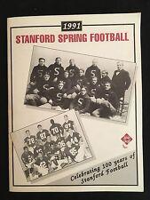 1991 Stanford Cardinal Spring Football Guide Prospectus RARE