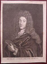 Eau-forte, Portrait de Nicolaus Lemery, Docteur en médecine, Nicolas Pitau