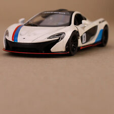 2013 White McLaren P1 Model Sports Racing Car Die-Cast 1:38 Scale Pull-Back