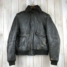 VINTAGE 70 s IS-674-MS A-2 Schott Cuir Blouson Aviateur USA Made Talon L