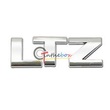1PC 3D Metal Silver LTZ Emblem Side Fender Badge Decal Sticker For GMT900/CHEVY
