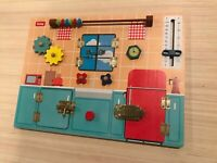 Busy board for kids, toddler educational activity board, sensory Montessori toy