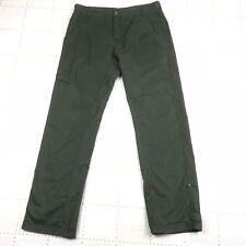 PRANA Womens Pants Size 34 Green Breathe Casual Roll Up Snap Hem Camping Hiking