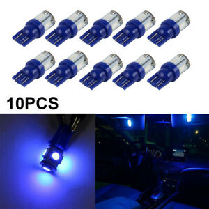 10x T10 Blue Roof Cab Marker Clearance Lights LED Bulbs For Hummer H2 2003-2009
